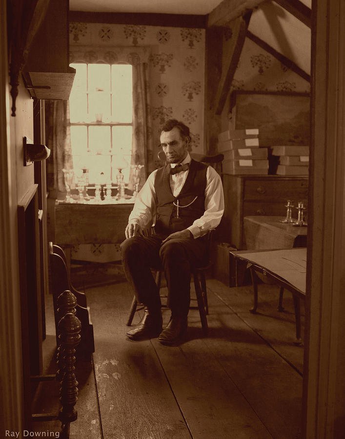 Lincoln In The Attic Digital Art  - Lincoln In The Attic Fine Art Print