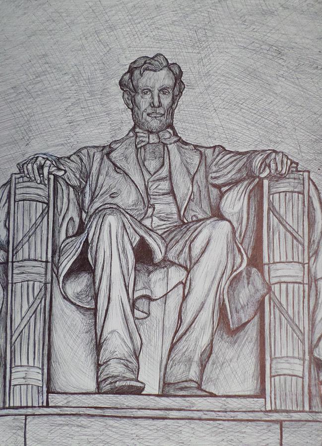 Lincoln Memorial Drawing