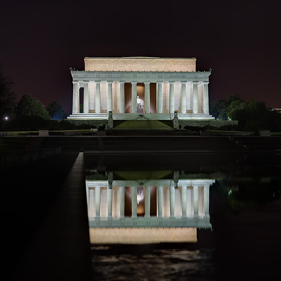 Lincoln Reflection Photograph  - Lincoln Reflection Fine Art Print