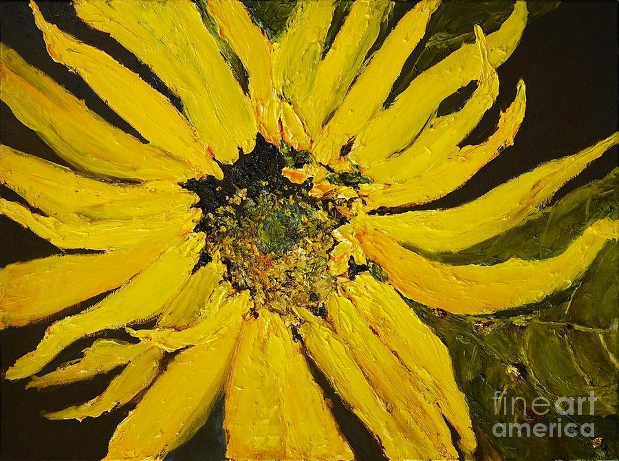 Sunflowers Painting - Lindas Arizona Sunflower 2 by Sherry Harradence