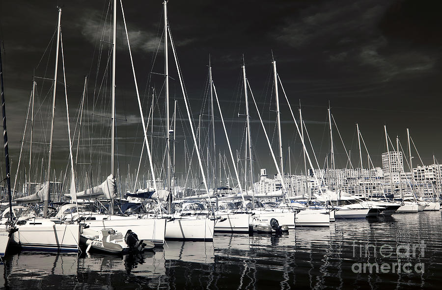 Lined Up In Marseille Photograph  - Lined Up In Marseille Fine Art Print