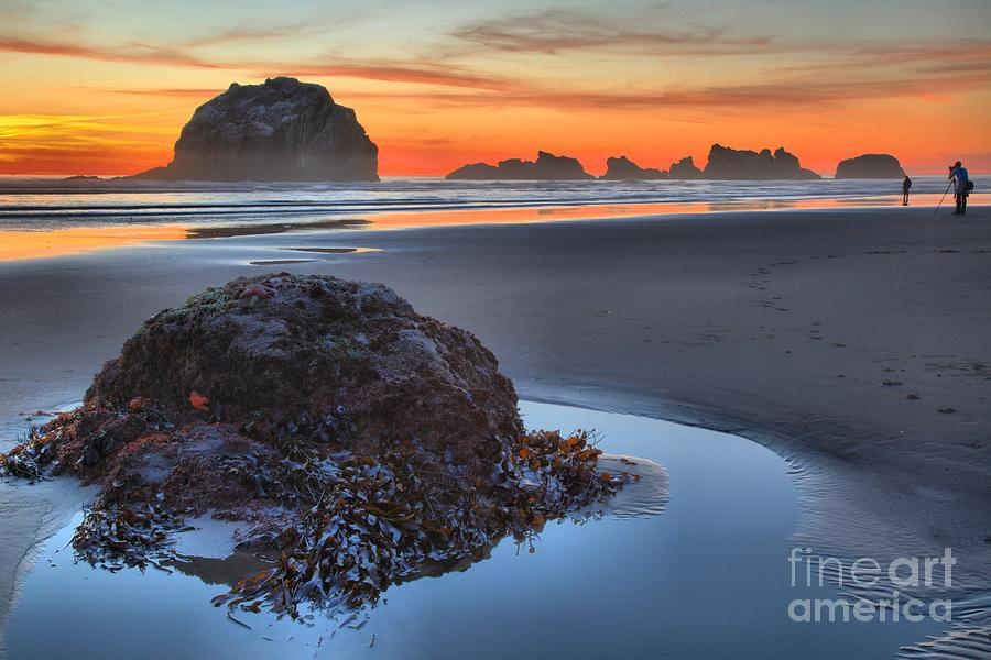 Bandon Beach Photograph - Lining Up For The Shot by Adam Jewell