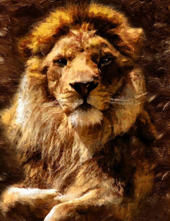 Lion King Of Beasts Mixed Media