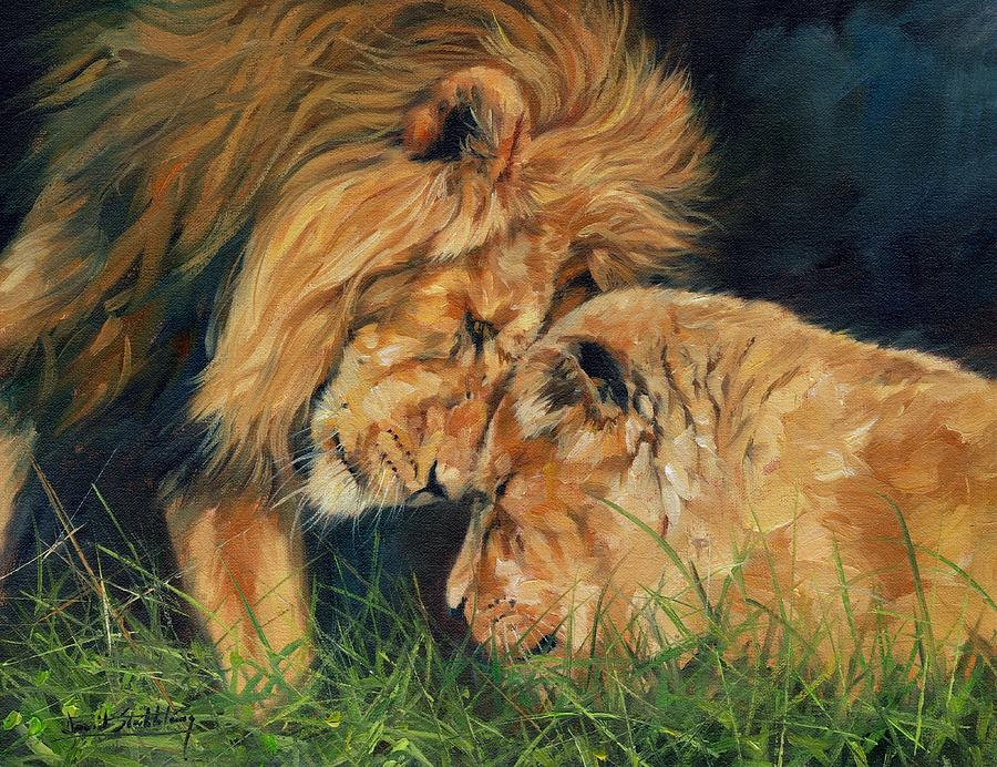 Lion  Love Painting