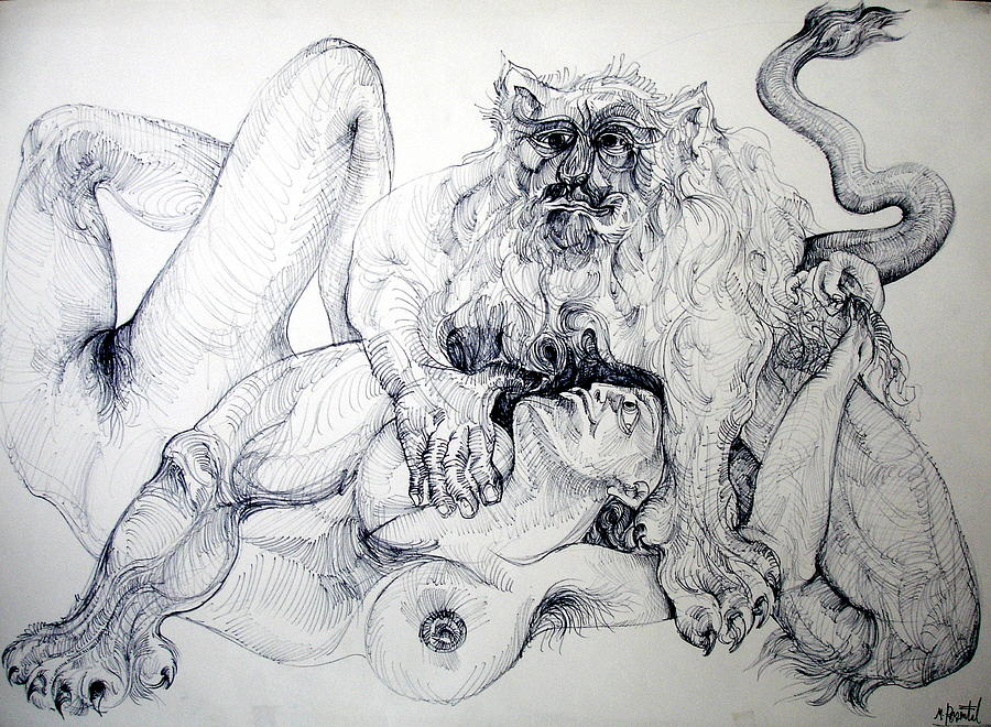 Image result for lion man painting