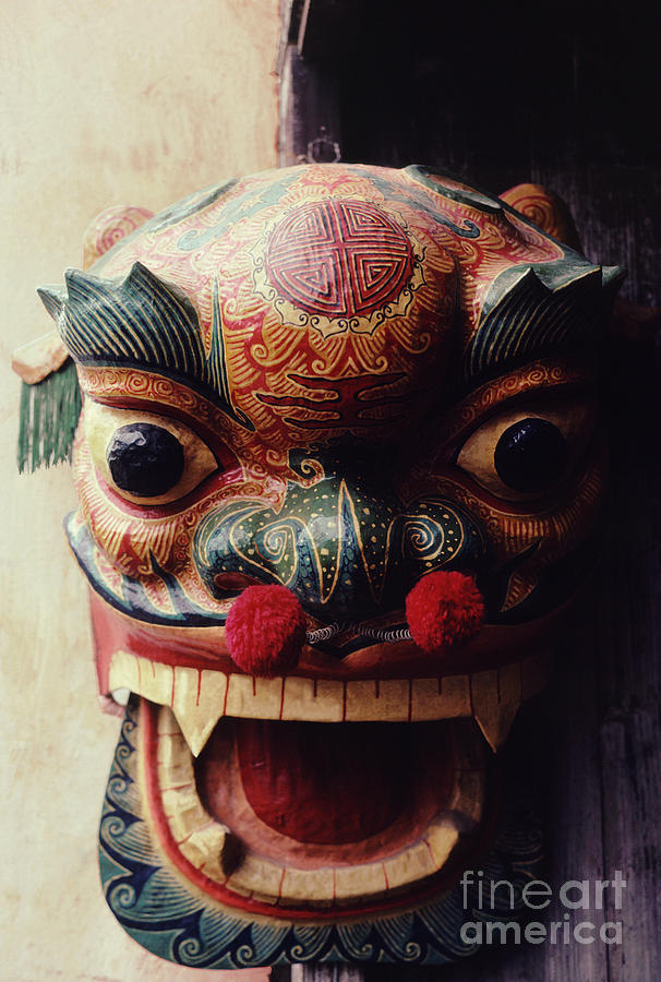 Lion Mask For Chinese New Year Photograph