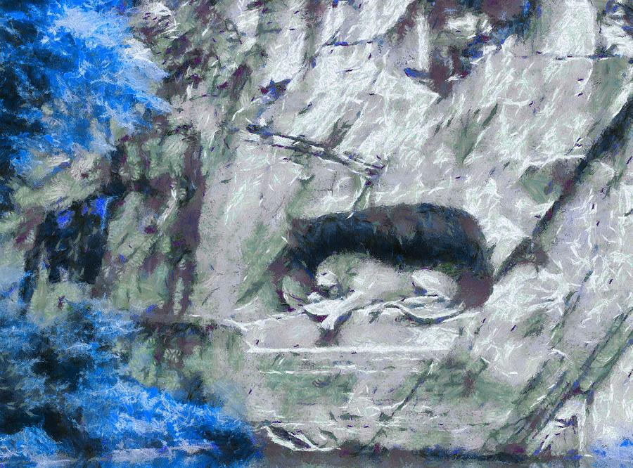 Lion Of Lucerne Painting