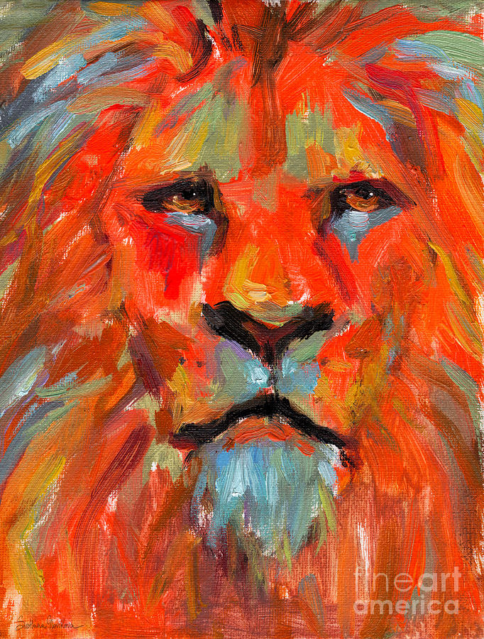 Colorful lion painting - photo#17