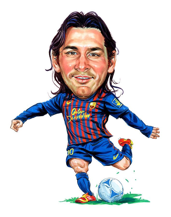 Lionel Messi Painting