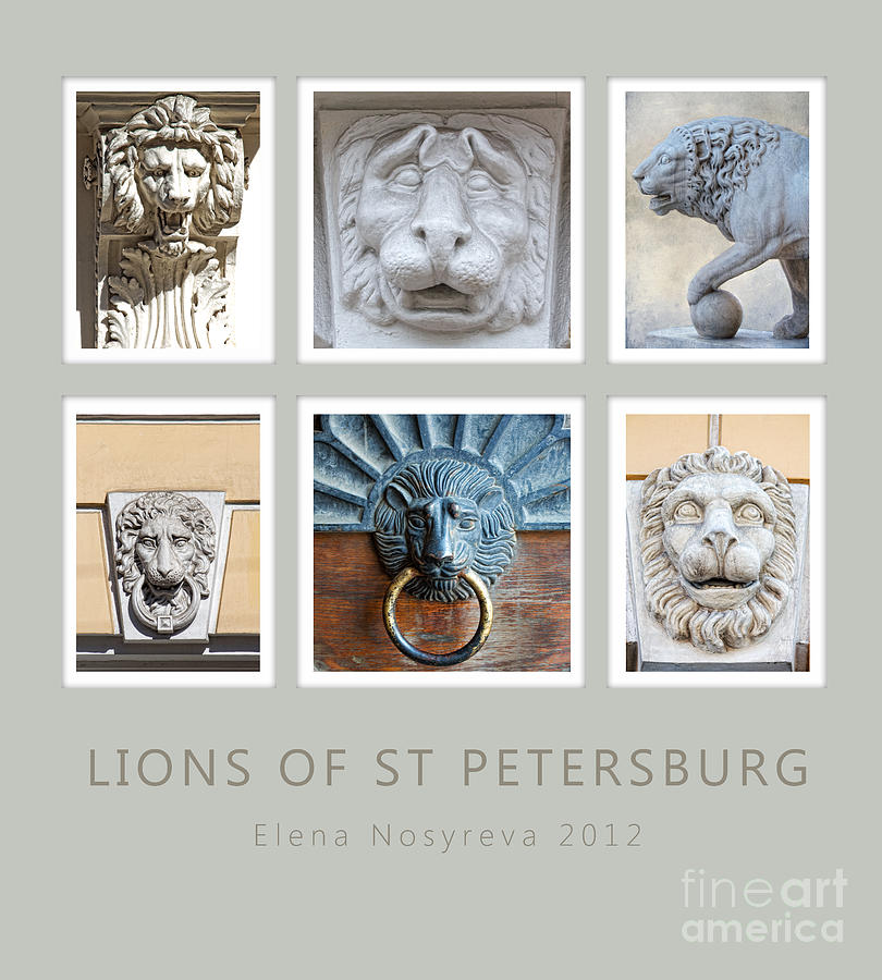 Lions Of St Petersburg Photograph  - Lions Of St Petersburg Fine Art Print