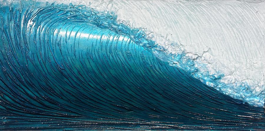 Seascape. Wave Painting - Lip Line by Nathan Ledyard