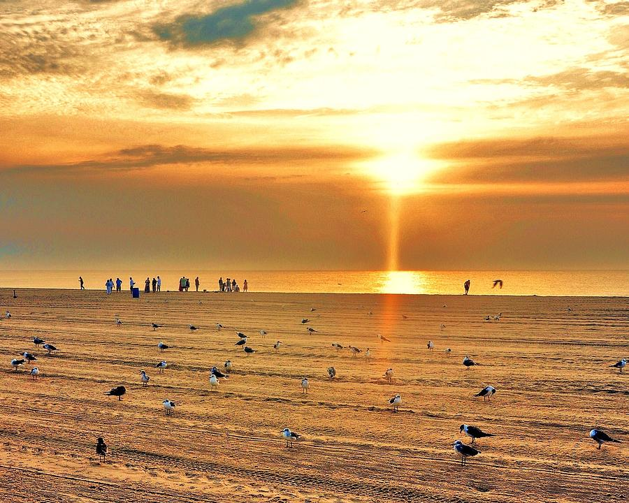 Sunrise Photograph - Liquid Gold Sunrise by Kim Bemis