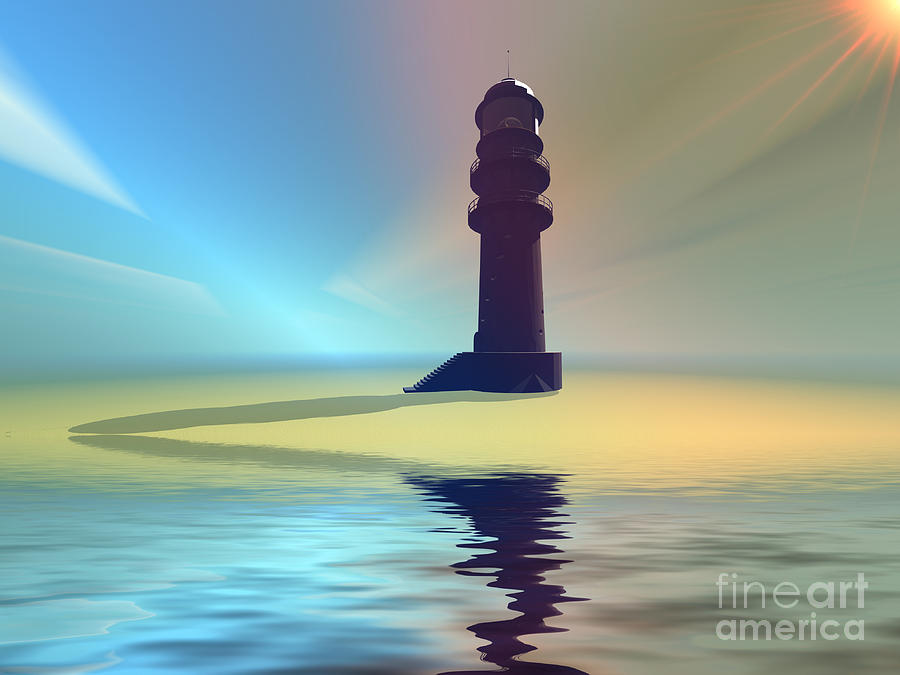 Liquid Lights Painting  - Liquid Lights Fine Art Print