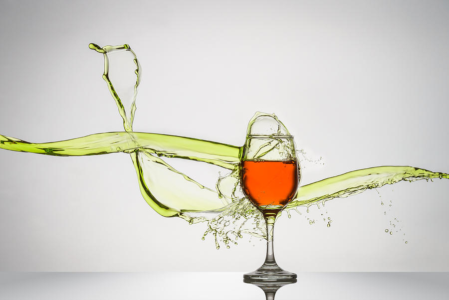 Wine Glass Splash Art