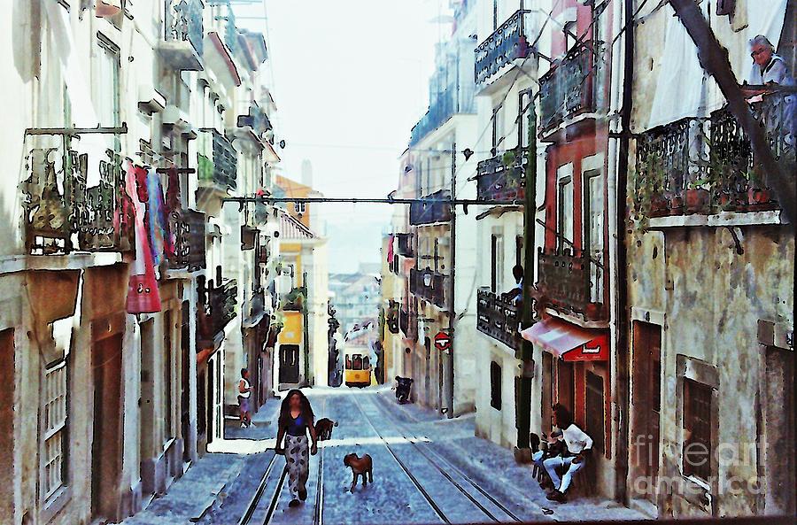 Lisboa Tram Route Photograph - Lisboa Tram Route by Sarah Loft