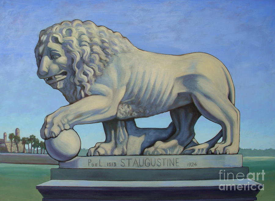 Paintings Of St. Augustine Painting - Listen To The Lion I by Teri Tompkins