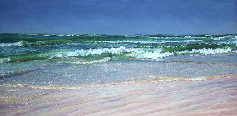 Listen To The Waves Painting  - Listen To The Waves Fine Art Print