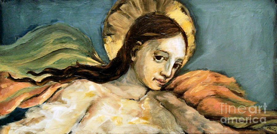Listening Angel Painting