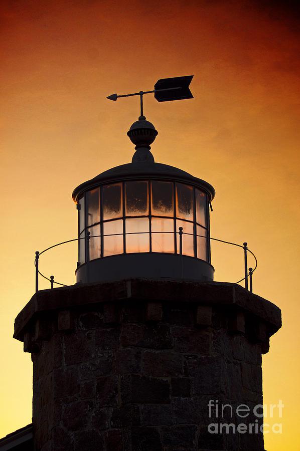 Lighthouse Photograph - Lit House by Joe Geraci