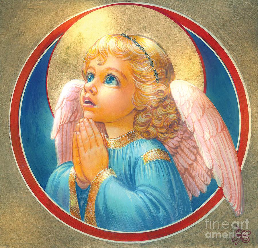 Zorina Baldescu Digital Art - Little Angel by Zorina Baldescu