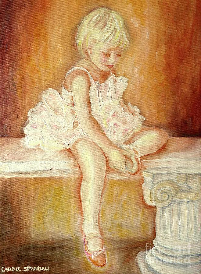 Little Ballerina Painting  - Little Ballerina Fine Art Print