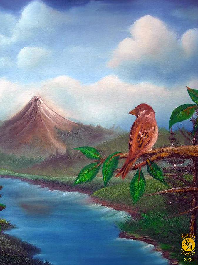 Landscape Painting - Little Bird by Richard Bantigue
