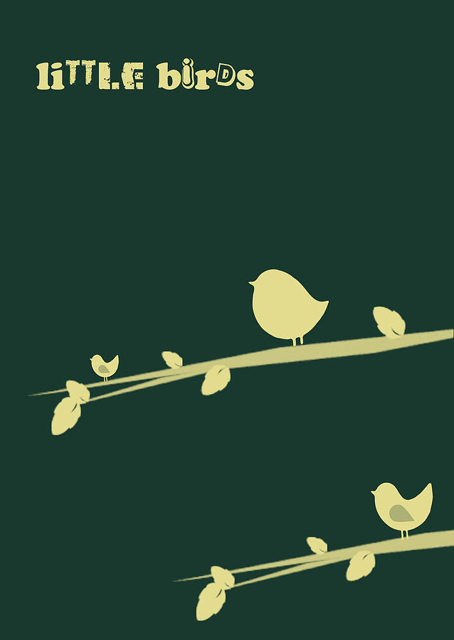 Little Birds Digital Art  - Little Birds Fine Art Print