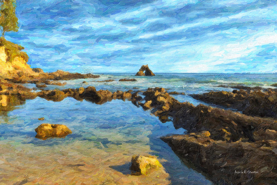 Little Corona Beach Painting  - Little Corona Beach Fine Art Print