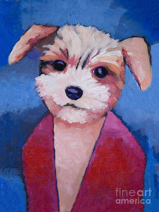 Little Dog Painting  - Little Dog Fine Art Print