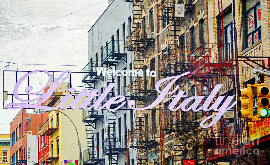 Little Italy Sign Nyc Photograph