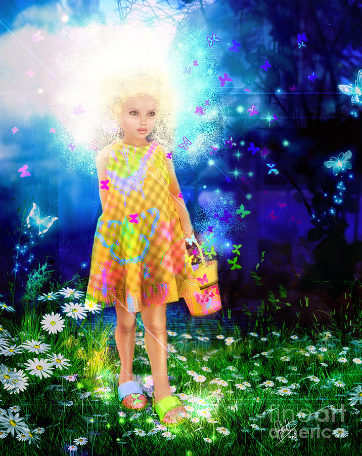 Little Miss Magic Digital Art  - Little Miss Magic Fine Art Print
