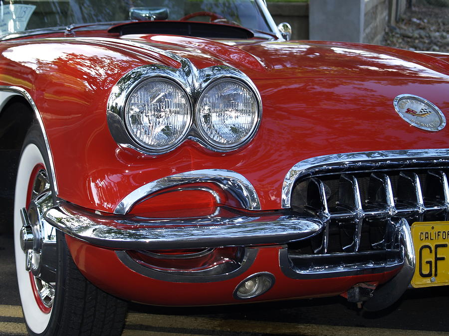 Little Red Corvette Photograph  - Little Red Corvette Fine Art Print