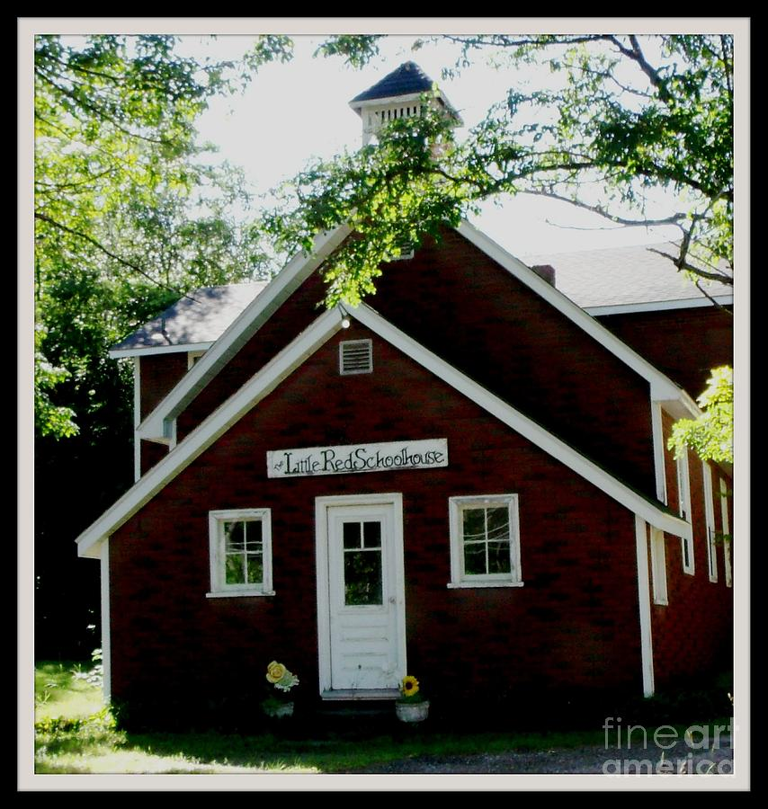 Little Red Schoolhouse Photograph  - Little Red Schoolhouse Fine Art Print
