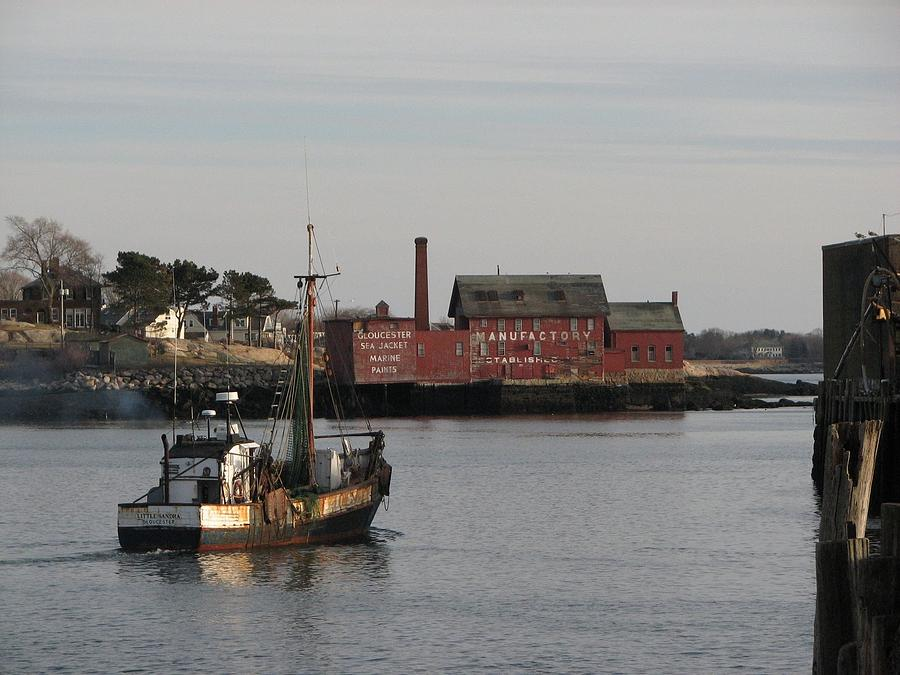 Gloucester Photograph - Little Sandra Last Of The Eastern Side Draggers by Paul  Frontiero