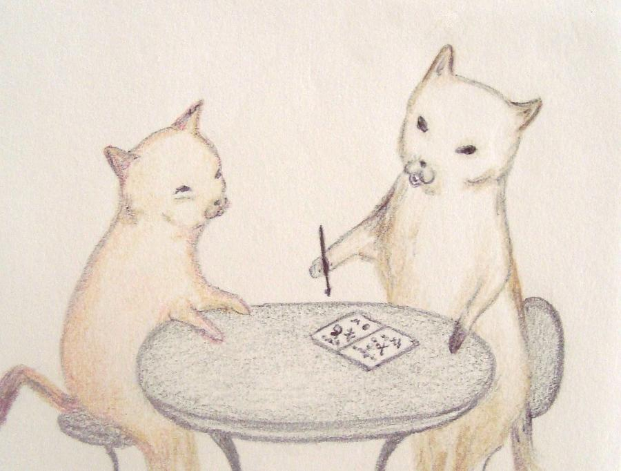 Little School Cats Drawing