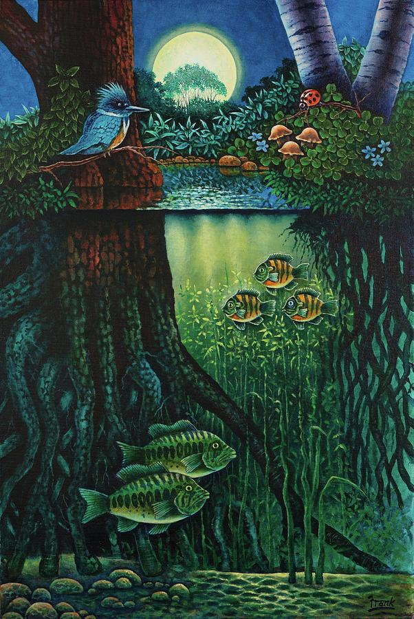Fantasy Painting - Little World Chapter Kingfisher by Michael Frank