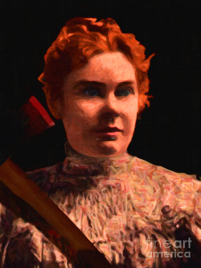 Lizzie Bordon Took An Ax - Painterly - Black Photograph  - Lizzie Bordon Took An Ax - Painterly - Black Fine Art Print