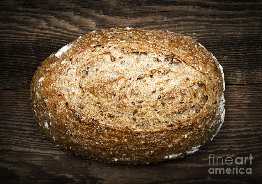 Loaf Of Multigrain Artisan Bread Photograph
