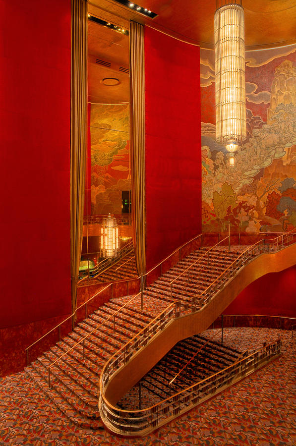 Lobby Stairs At Radio City Photograph By Dave Mills