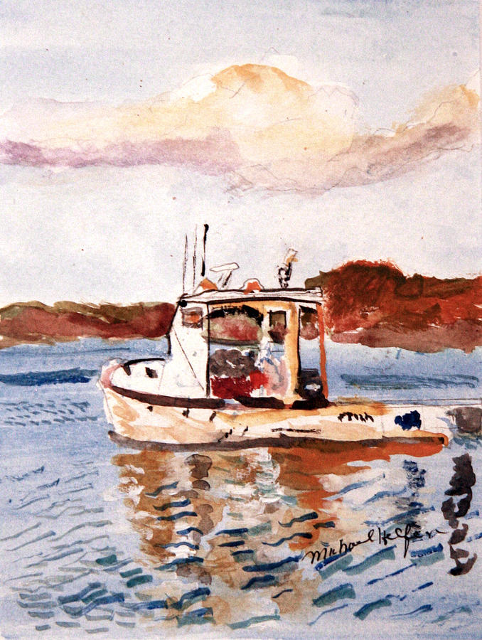 Lobster Boat Painting