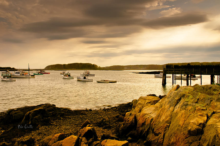 Lobster Boats Cape Porpoise Maine Photograph  - Lobster Boats Cape Porpoise Maine Fine Art Print