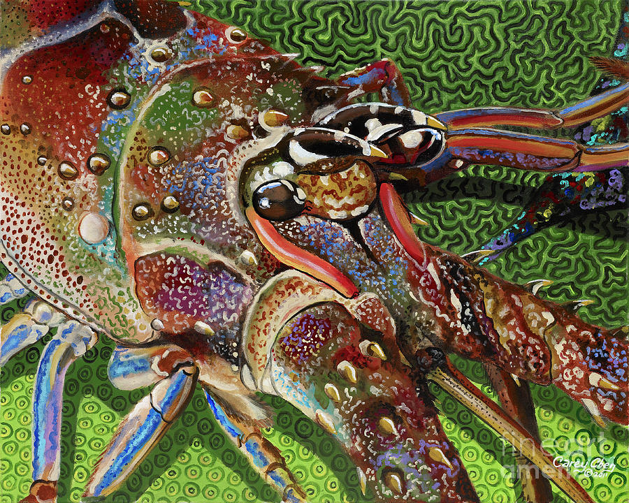 lobster season Re0027 Painting  - lobster season Re0027 Fine Art Print