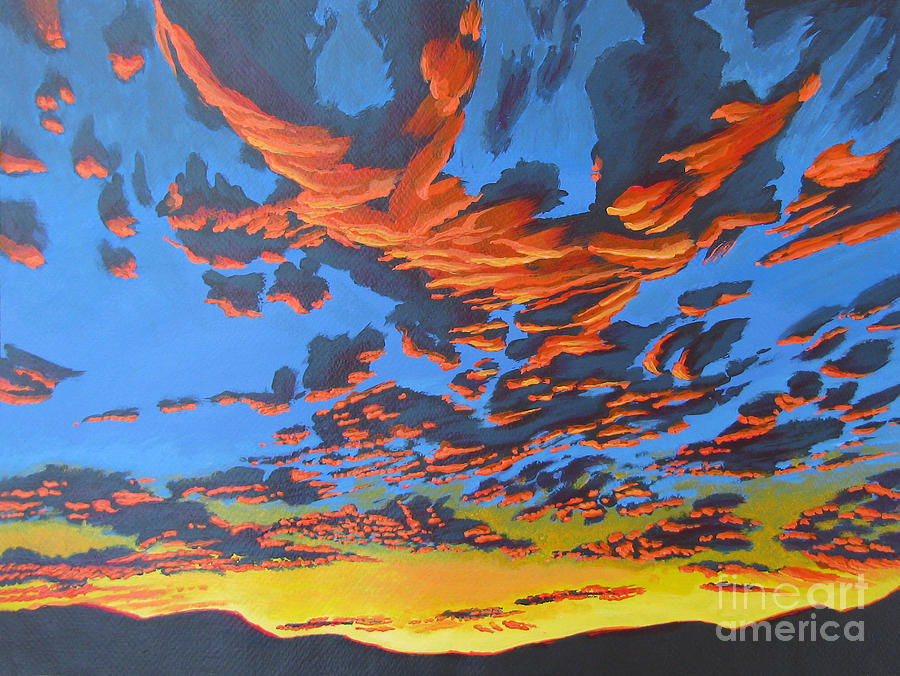 Lobster Sky Painting  - Lobster Sky Fine Art Print
