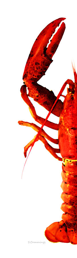 Lobster - The Left Side Painting  - Lobster - The Left Side Fine Art Print