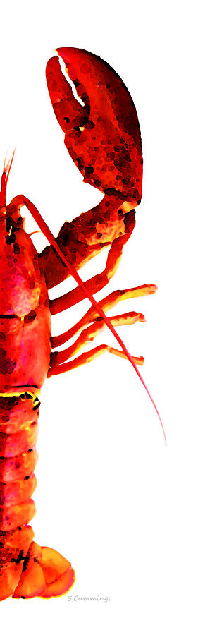 Lobster - The Right Side Painting  - Lobster - The Right Side Fine Art Print