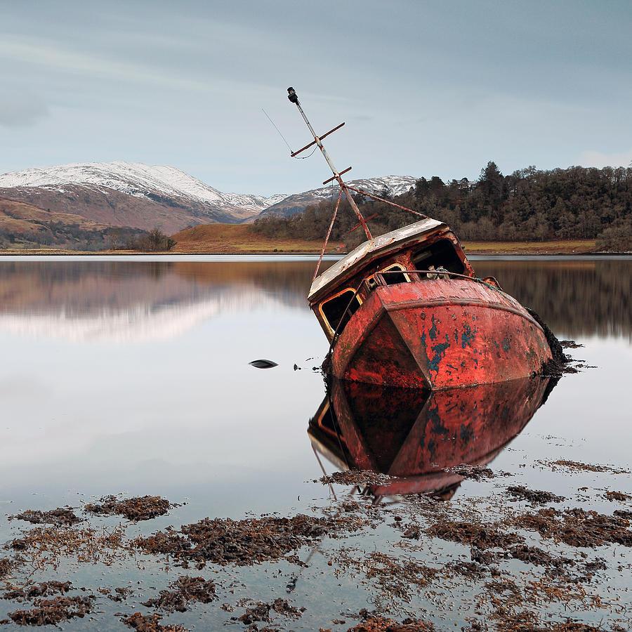 Loch Boat Wreck Photograph By Grant Glendinning