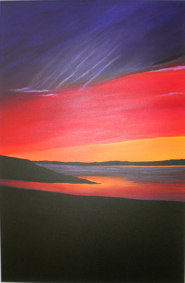Scottish Artist Painting - Loch Ewe by Aileen Carruthers