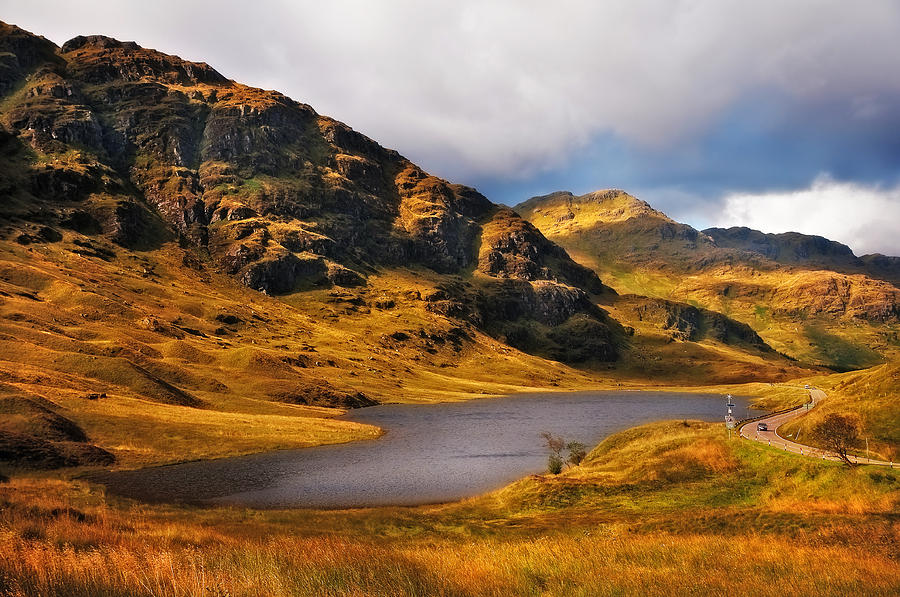 Scotland Photograph - Loch Restil. Rest And Be Thankful. Scotland by Jenny Rainbow