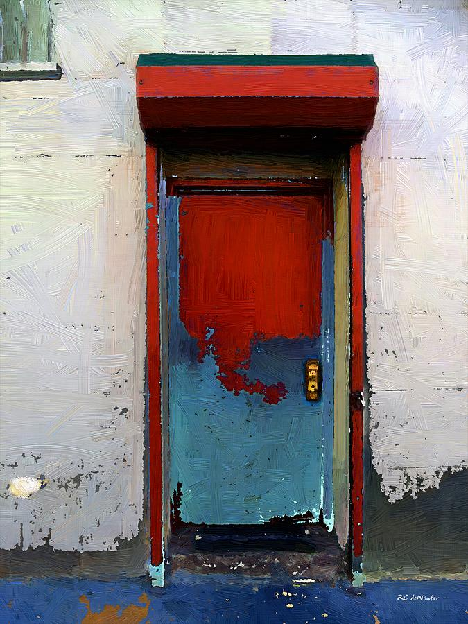 Locked Door Hells Kitchen Painting  - Locked Door Hells Kitchen Fine Art Print