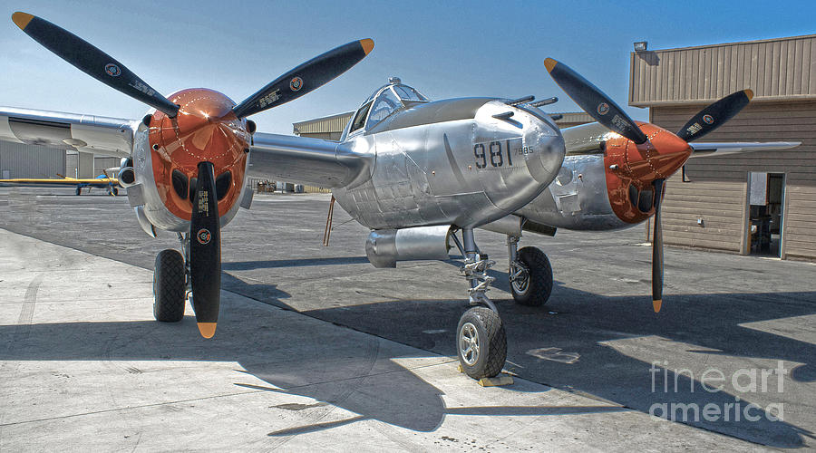 Lockheed P-38l Lightning Honey Bunny  - 01 Photograph
